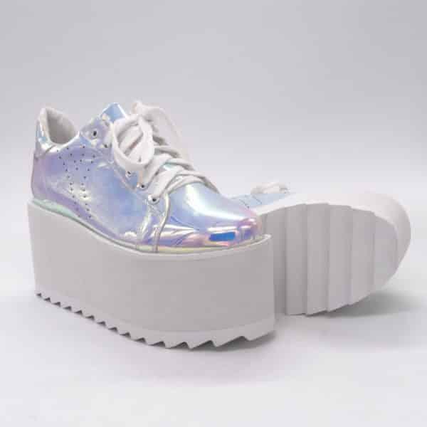 Silver Platform Sneakers 2