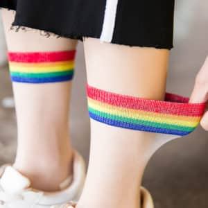 Rainbow Transparent Thin Socks 1