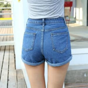 High Waist Denim Shorts 2