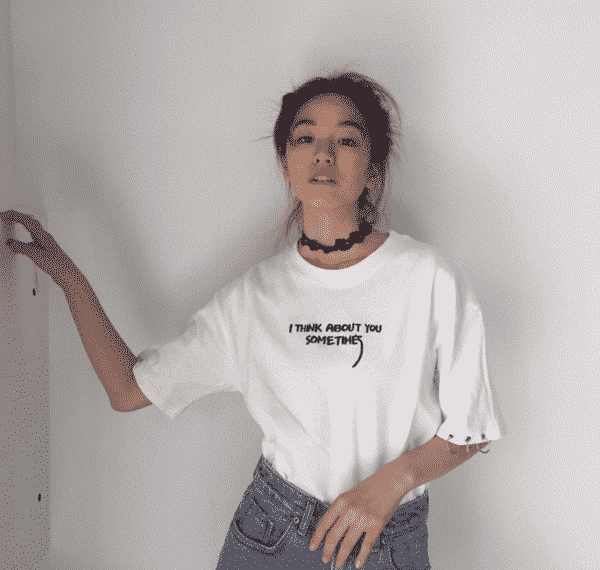 I Think About You Sometimes Printed Tee 5