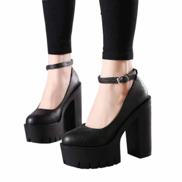 Thick Heels Platform Pumps 1
