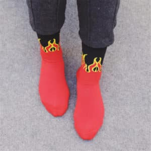 Flame Printed Socks 2