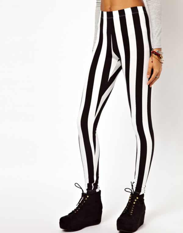Vertical Striped Leggings 5