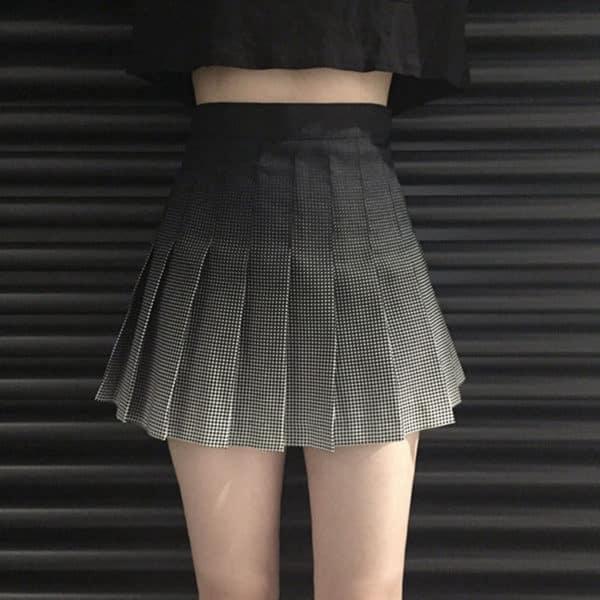 Gradient High Waist Skirt