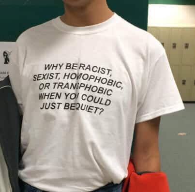 Why be Racist When You Could Just be Quiet Tee 1