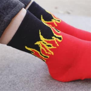 Flame Printed Socks 1