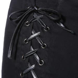Criss Cross High Waist Black Shorts 1