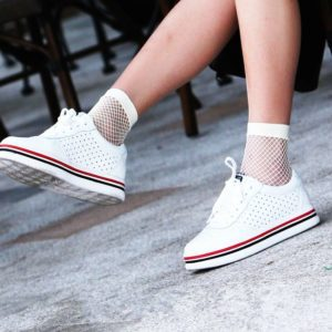 White Mesh Fishnet Ankle Socks 3