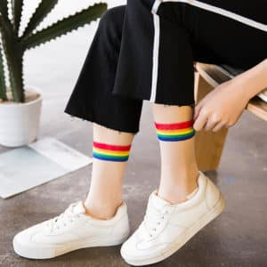 Rainbow Transparent Thin Socks