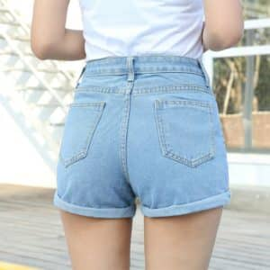 High Waist Denim Shorts 3