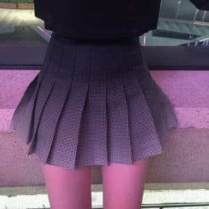 Black to Grey Gradient High Waist Skirt 2