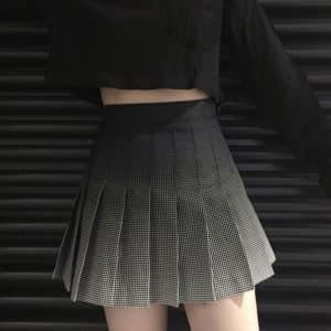 Black to Grey Gradient High Waist Skirt 1