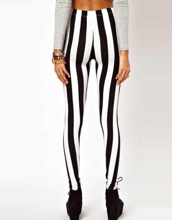 Vertical Striped Leggings 3