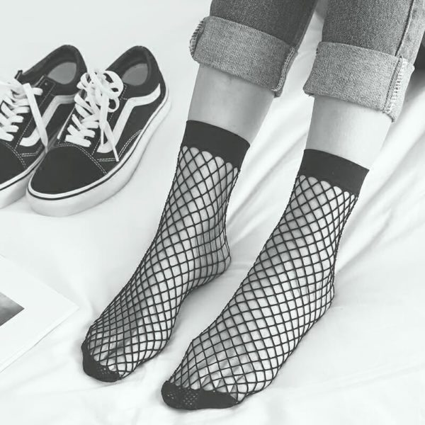 Mesh Fishnet Socks 3