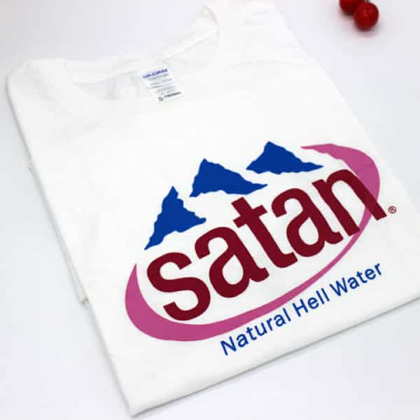 """Satan, Natural Hell Water"" Graphic Tee"