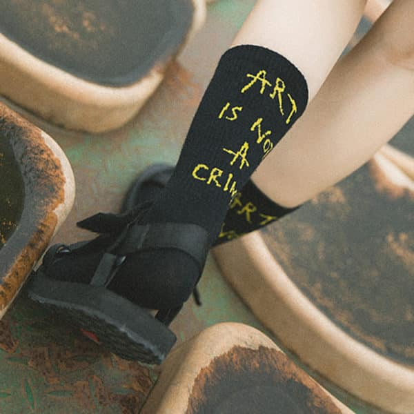 """Art is not a Crime"" Socks"