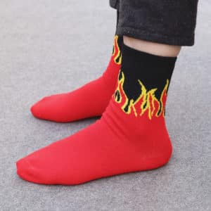 Flame Printed Socks