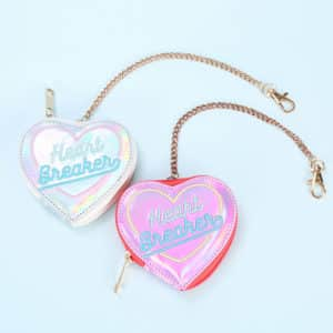 Heart Breaker Holographic Coin Purse 1