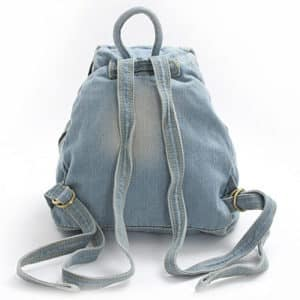 Vintage Denim Backpack 2
