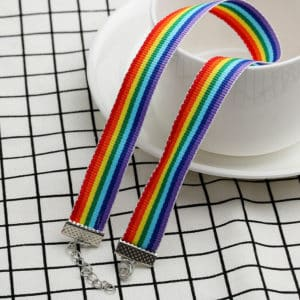 Rainbow Ribbon Choker 1