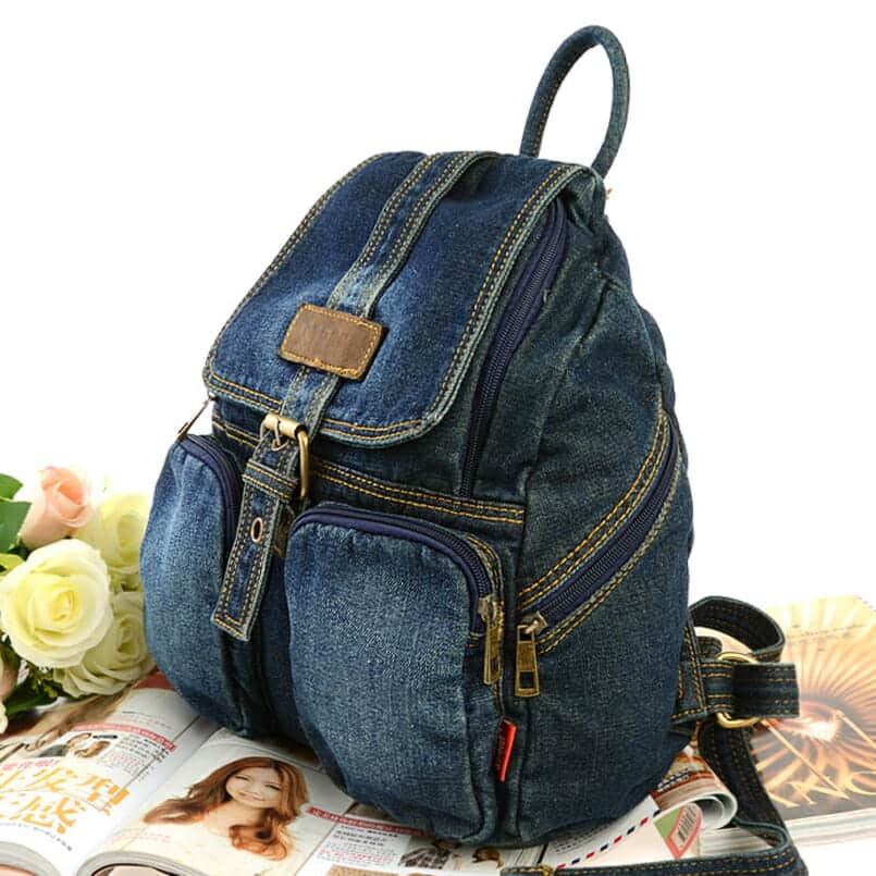 Vintage Denim Backpack 4