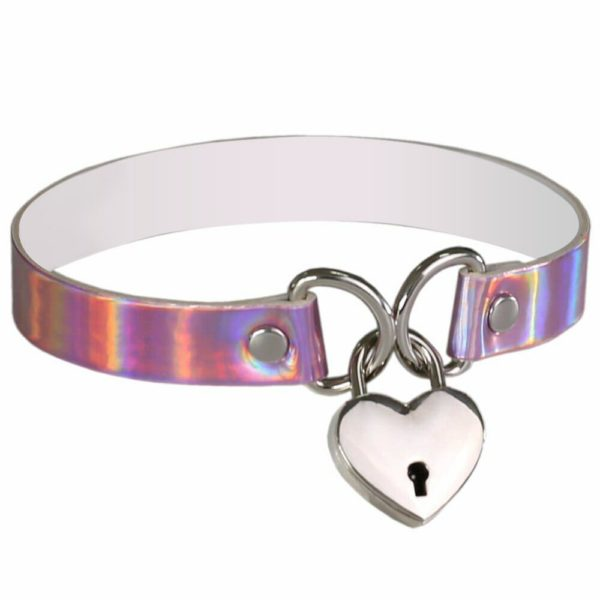 Holographic Lock Heart Choker 1