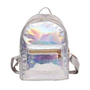 Holographic Small Backpack Silver