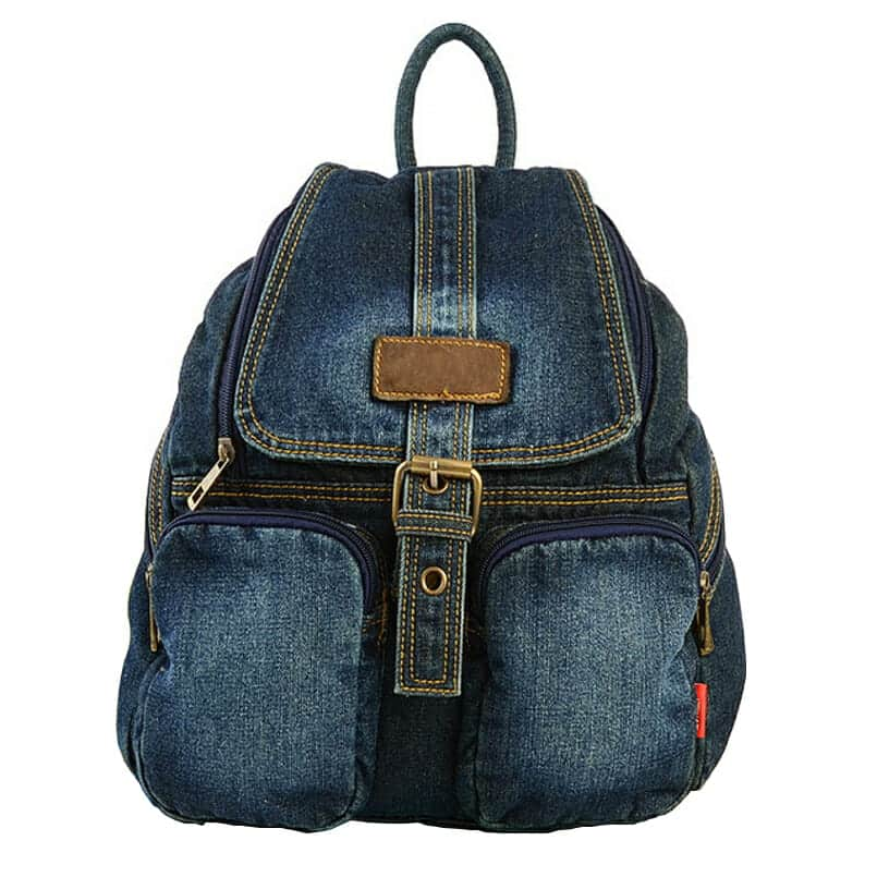 Vintage Denim Backpack 1