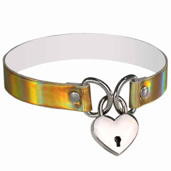 Holographic Lock Heart Choker 2