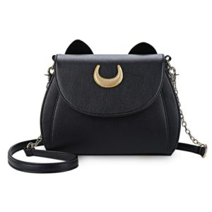 Black Luna Cat Moon Crossbody Bag 1
