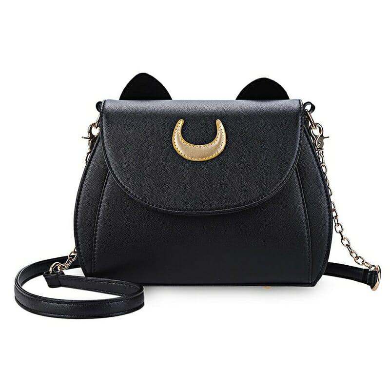 Black Luna Cat Moon Crossbody Bag 1