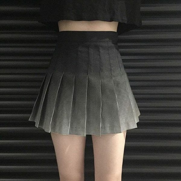 Gradient High Waist Skirt