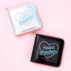 """Heart Breaker"" Holographic Wallet"