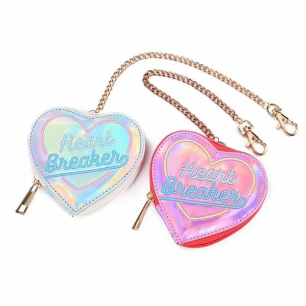 Heart Breaker Holographic Coin Purses