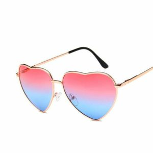 Heart Shaped Reflective Sunglasses