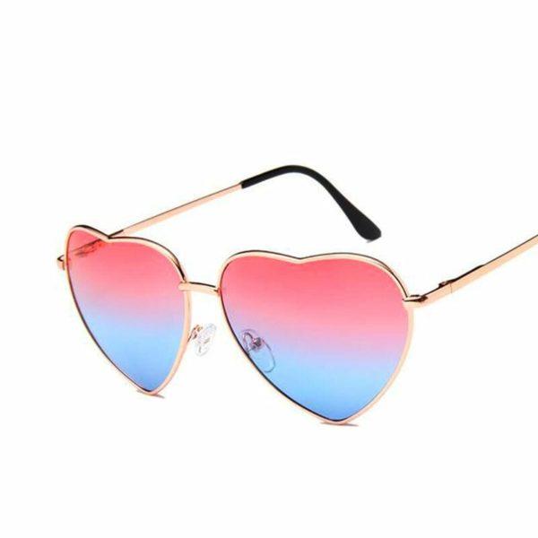 Heart Shaped Reflective Sunglasses