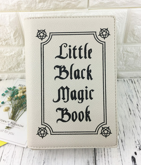 """Little Black Magic Book"" Shoulder Bag White Single"