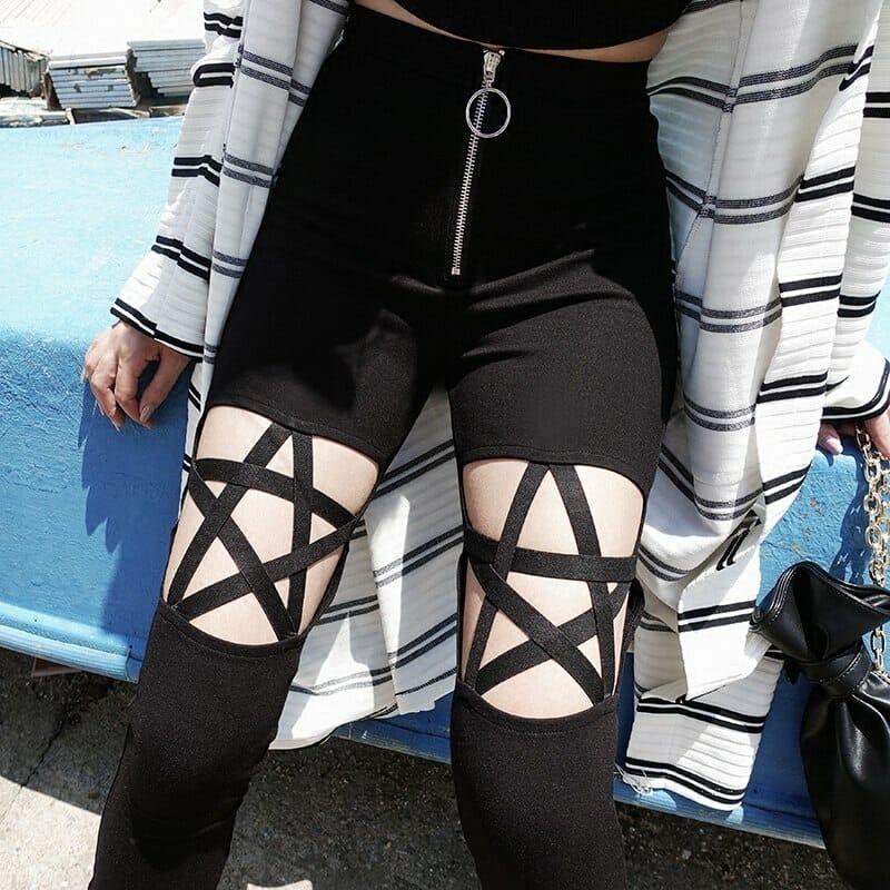 Pentagram Pants with Zipper