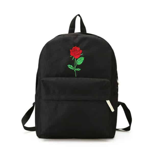 Rose Embroidered Backpack