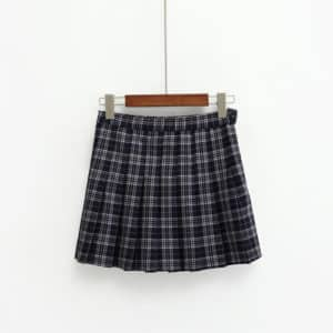 High Waist Plaid Skirts 1