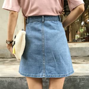 High Waist Denim Skirt 1