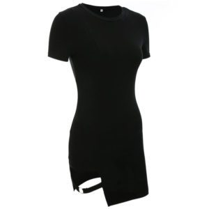 Asymmetrical Short Sleeve Mini Dress 4