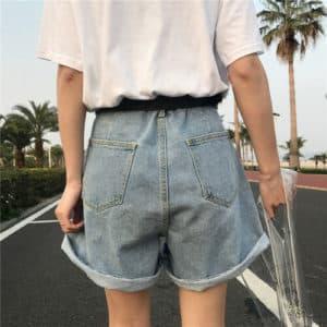 Denim High Waist Shorts 2