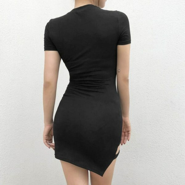Asymmetrical Short Sleeve Mini Dress 3