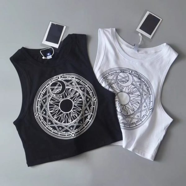 Moon & Sun Crop Top