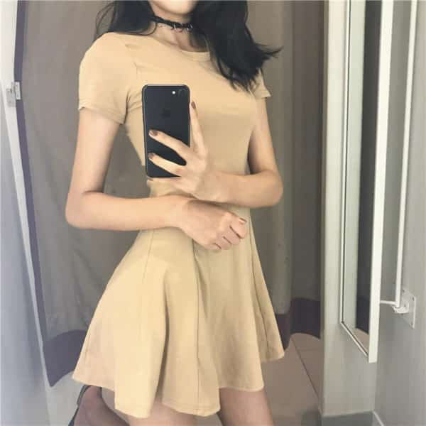 High Waist Slim Dress
