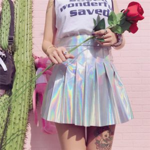 Holographic Mini Skirt 1