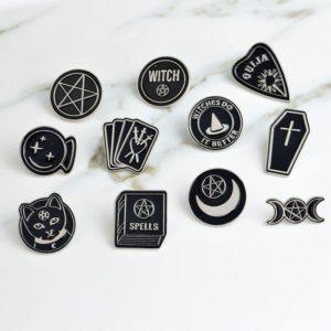 Wicca Enamel Pins 1