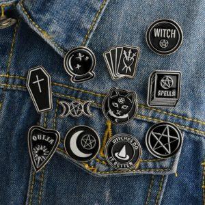 Wicca Enamel Pins
