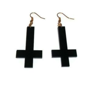 Inverted Cross Drop Earrings